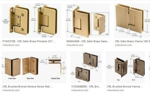 Shower door hardware color options
